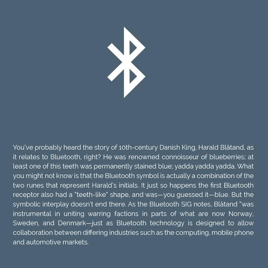 Origin of Bluetooth icon