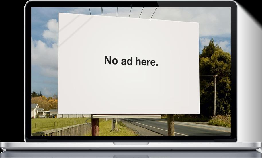 """""""No Ad here"""" Adblock campaign"""