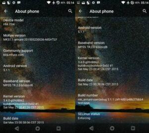 Android 5.1.1 Xiaomi Redmi 1S