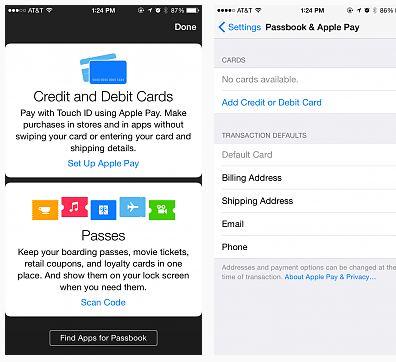 Apple Pay ios 8.1