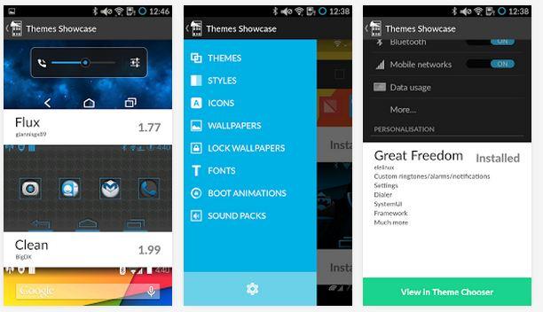 Cyanogen Theme showcase app