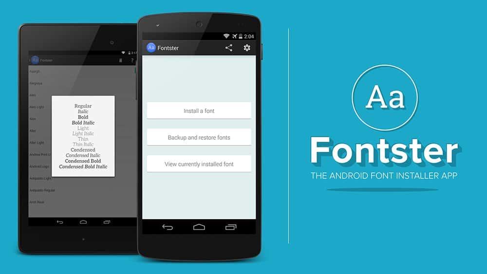 Fontster app
