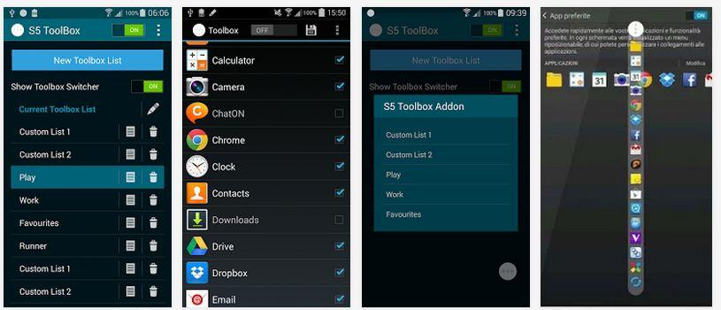 Galaxy S5 toolbox