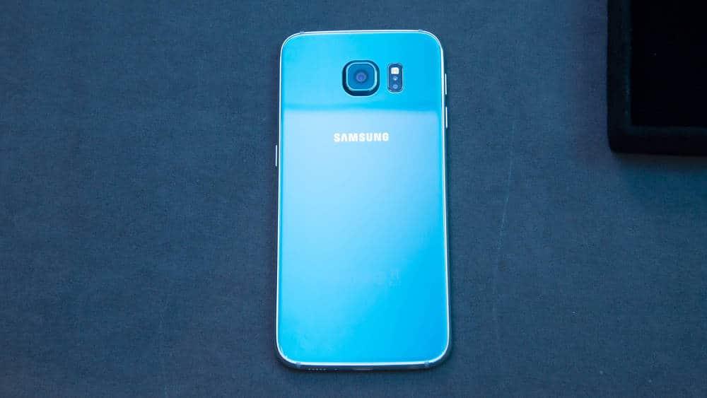 Galaxy S6 blue