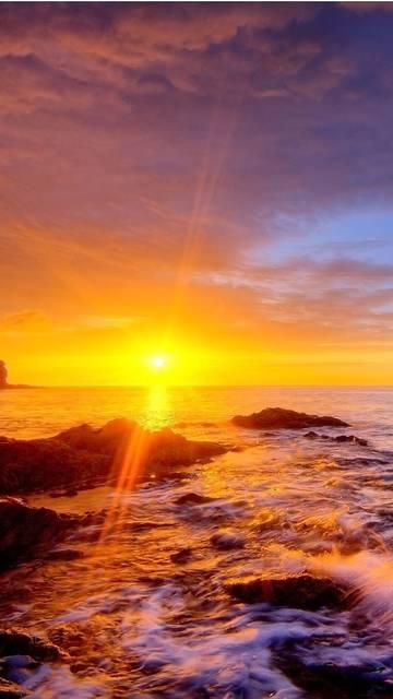 Golden sunset Galaxy Note 4 wallpaper