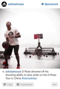 Instagram ad featuring Adidas