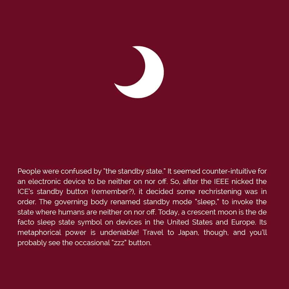 Origin of the sleep icon