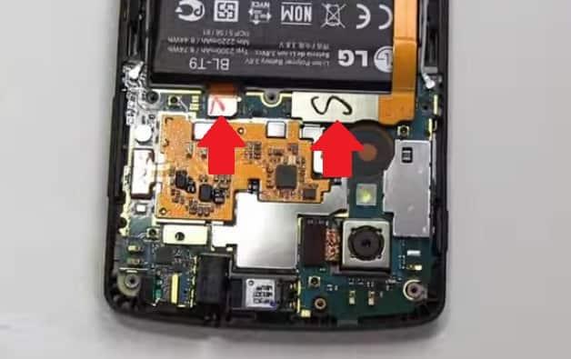 Replace nexus 5 battery step 2