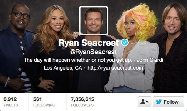 Ryan Seacrest twitter profile