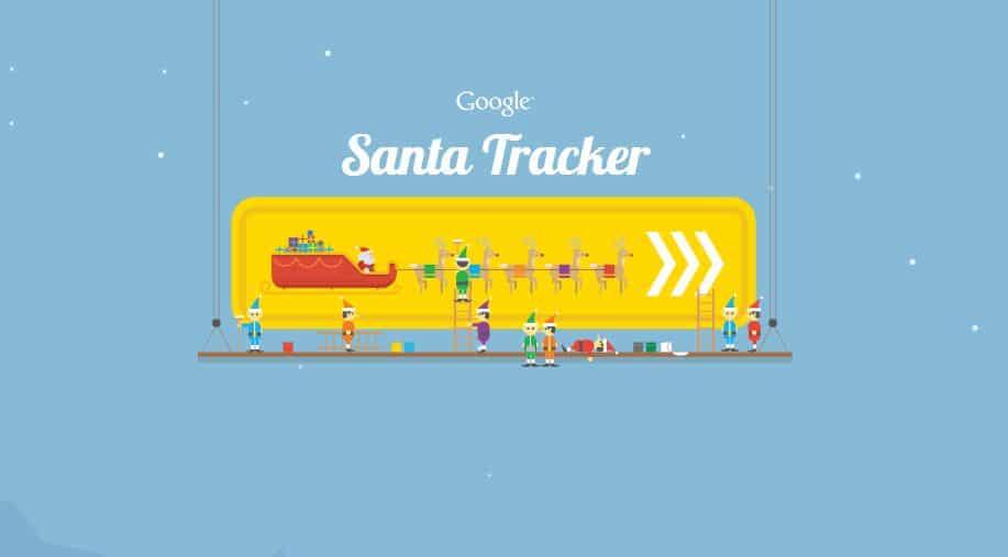 Santa Tracker doodle
