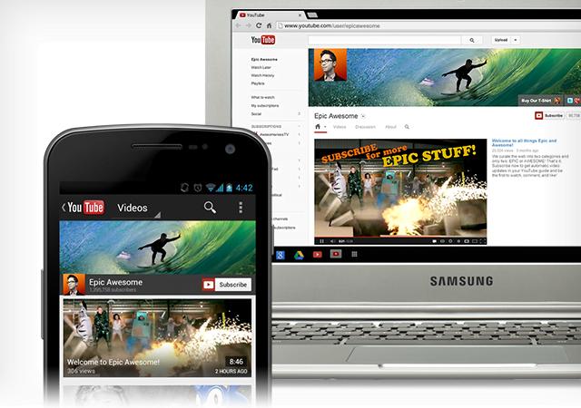 Youtube One layout