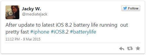 ios 8.2 battery life
