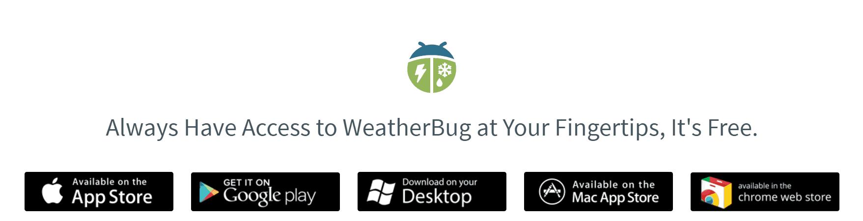 Free IOS & Droid Weather App - AmongTech
